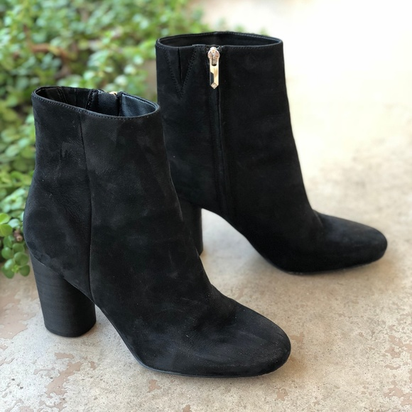 1e22e65c4f984 Sam Edelman Corra Black Suede Leather Booties. M 5b88bec1534ef903a428b239